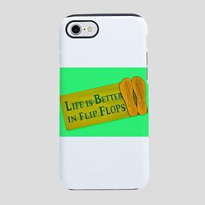 Life is Better in Flip Flops iPhone 8/7 Tough Case
