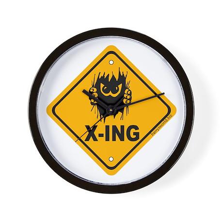 Eek! X-ing Wall Clock