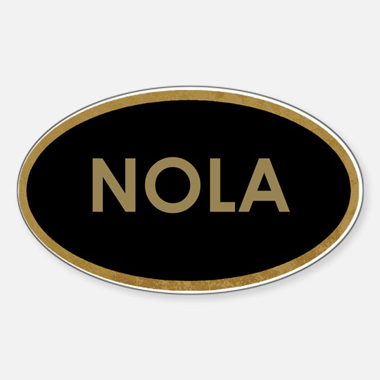 NOLA BLACK AND GOLD Decal