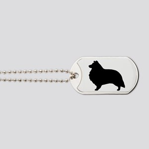 Sheltie Silhouette Dog Tags