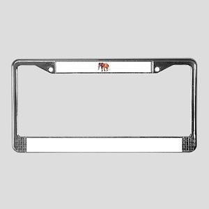 Orange Elephant License Plate Frame