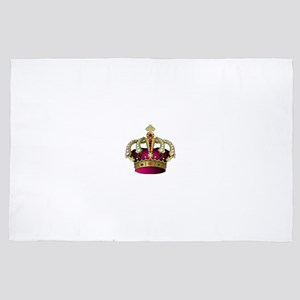 Pink & Gold Crown 4' x 6' Rug