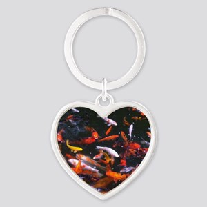 Dallas Koi Heart Keychain