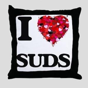 I love Suds Throw Pillow