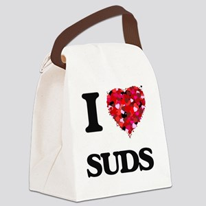 I love Suds Canvas Lunch Bag