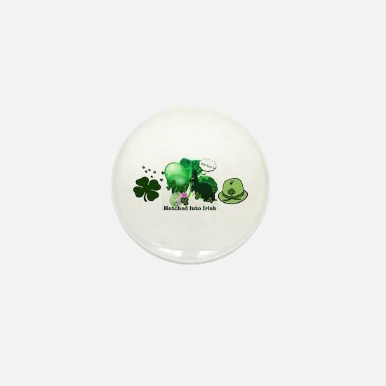 Hatched Into Irish Mini Button