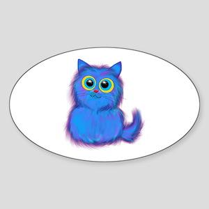 blue kitty Sticker