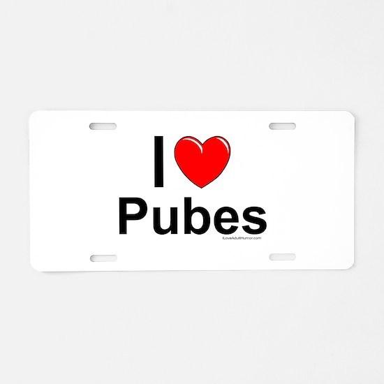 Pubes Aluminum License Plate