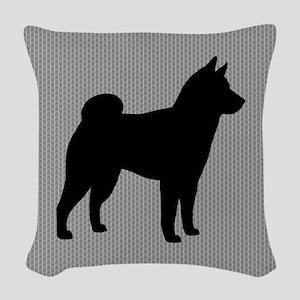Shiba Inu Woven Throw Pillow