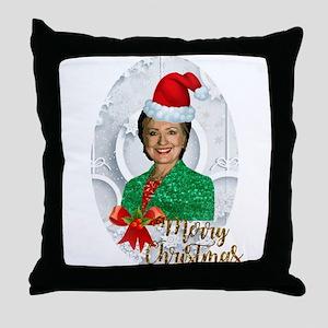 merry xmas Hillary clinton Throw Pillow
