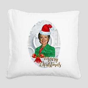 merry xmas Hillary clinton Square Canvas Pillow