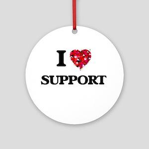 I love Support Ornament (Round)