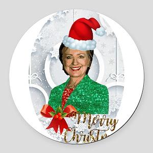 merry xmas Hillary clinton Round Car Magnet
