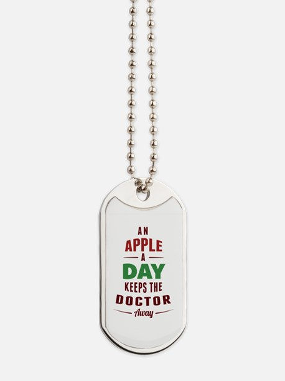 An Apple A Day... Dog Tags