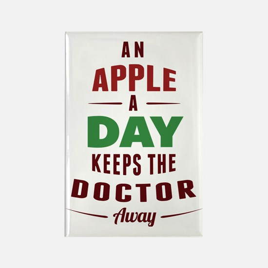 An Apple A Day... Rectangle Magnet