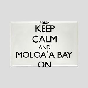 Keep calm and Moloa'A Bay Hawaii ON Magnets