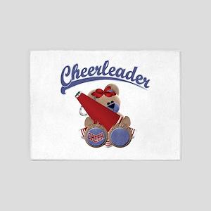 Cheerleader Bear 5'x7'Area Rug