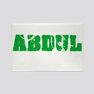 Abdul Name Weathered Green Design Magnets