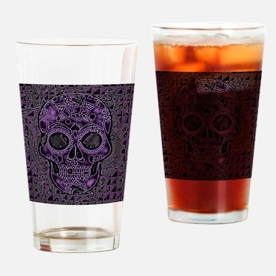 Unique Sugarskull Drinking Glass