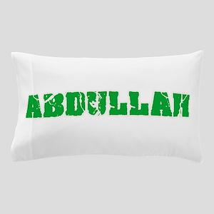 Abdullah Name Weathered Green Design Pillow Case