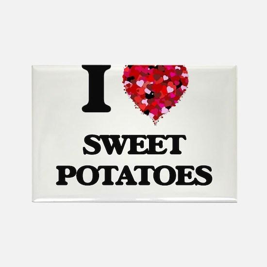 I love Sweet Potatoes Magnets