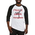 Peace Love Taekwondo Baseball Jersey