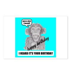 I HEARD IT'S YOUR BIRTHDAY Postcards (Package of 8