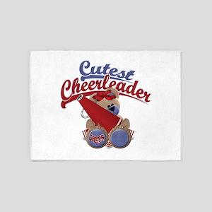 Cutest Cheerleader 5'x7'Area Rug