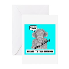 I HEARD IT'S YOUR BIRTHDAY Greeting Cards (Pk of 2
