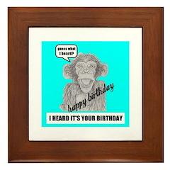 I HEARD IT'S YOUR BIRTHDAY Framed Tile