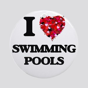I love Swimming Pools Ornament (Round)