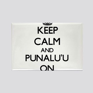 Keep calm and Punalu'U Hawaii ON Magnets