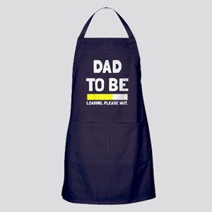 Dad to be loading please wait Apron (dark)