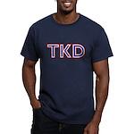 Taekwondo TKD Men's Fitted T-Shirt (dark)
