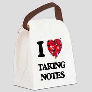 I Love Taking Notes Canvas Lunch Bag