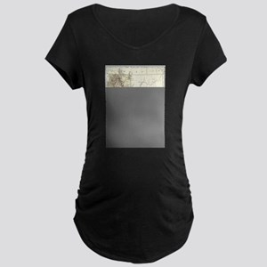 Vintage Map of California (1878) Maternity T-Shirt