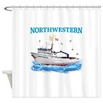 F/v Northwestern Color Shower Curtain
