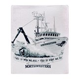 Northwestern deadliest catch Fleece Blankets