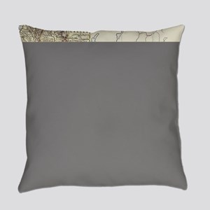Vintage Map of California (1878) Everyday Pillow