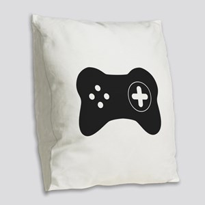 Game controller Burlap Throw Pillow