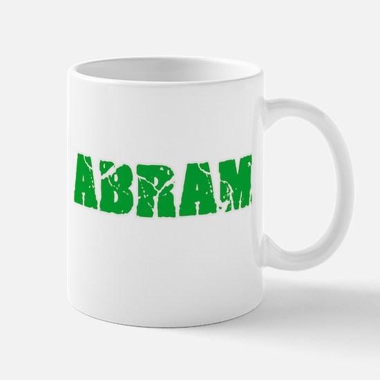 Abram Name Weathered Green Design Mugs