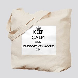 Keep calm and Longboat Key Access Florida Tote Bag
