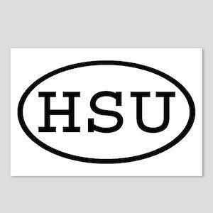 HSU Oval Postcards (Package of 8)