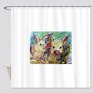 piglets, pig pair Shower Curtain