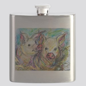 piglets, pig pair Flask