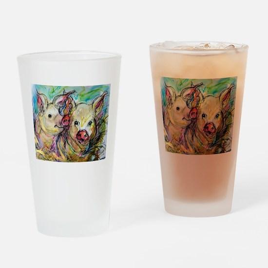 piglets, pig pair Drinking Glass