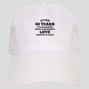 60 Years Of Love And Wine Baseball Cap