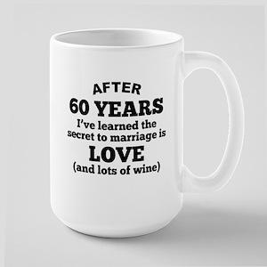 60 Years Of Love And Wine Mugs