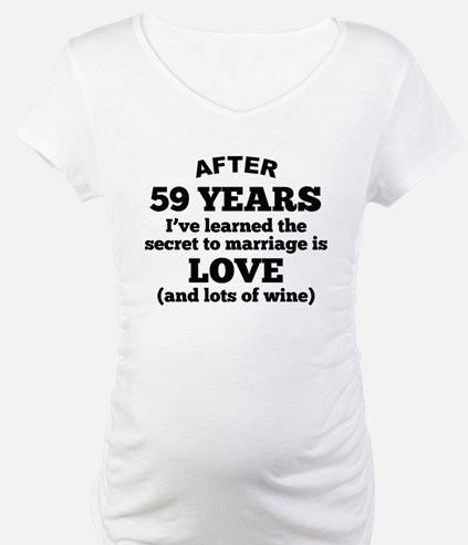 59 Years Of Love And Wine Shirt