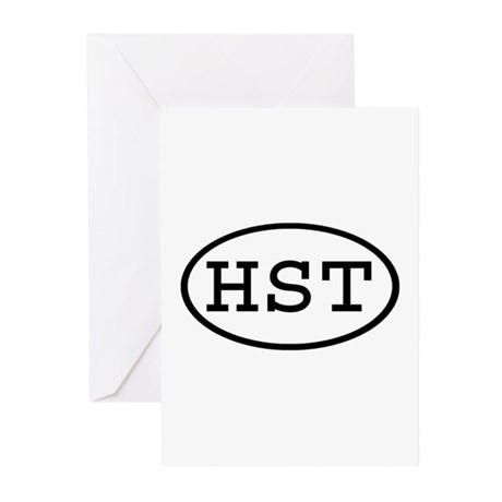 HST Oval Greeting Cards (Pk of 10)